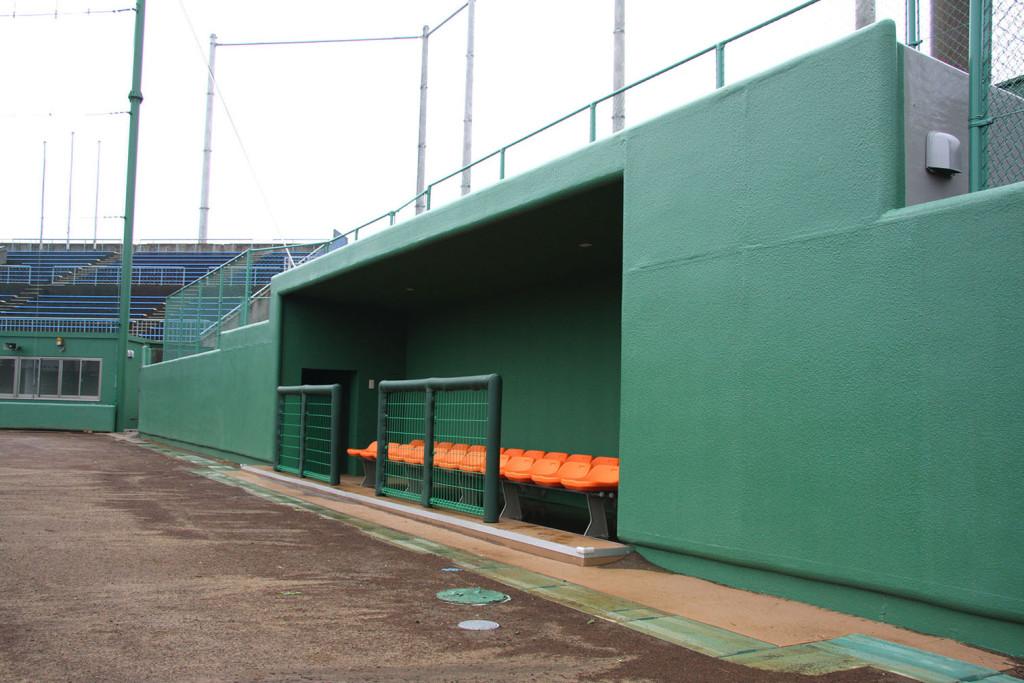 銚子市球場ファインコートスプレー